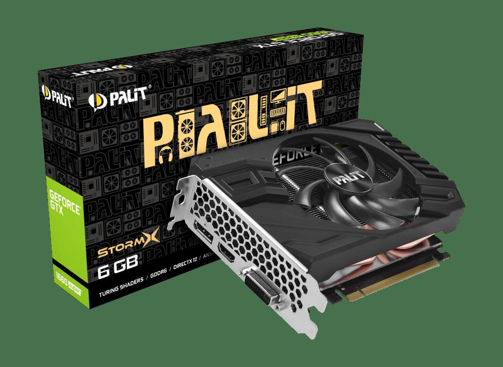 Palit GTX1660 SUPER StormX, 6GB GDDR6, DVI, HDMI, DP, 1785MHz Clock