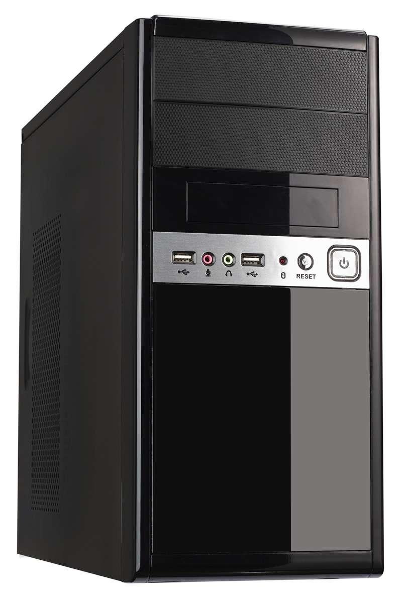 CiT 1016 Gloss Black/Silver Micro ATX Case