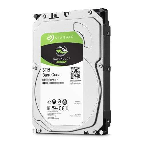 Seagate BarraCuda 3.5″ Hard Drive 3TB