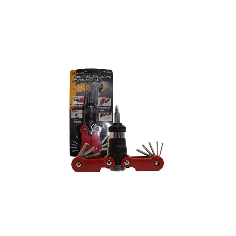 Sprotek 15-in-1 Ratchet Screwdriver Set