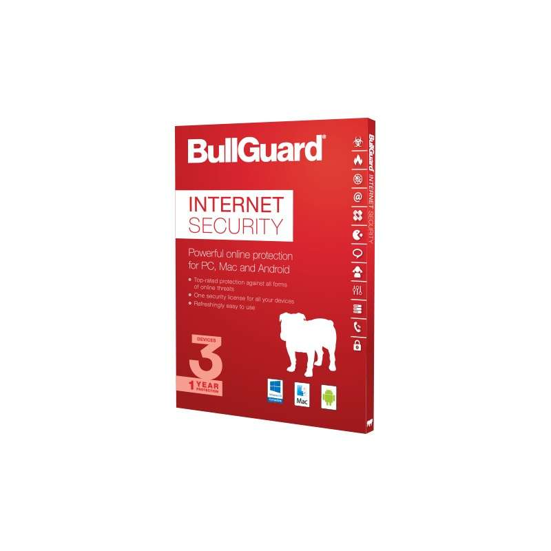Bullguard Internet Security 2020, 1 year, 3 Devices