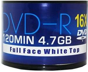 Aone DVD-R 16x Full Face Inkjet Printable (50 spindle)