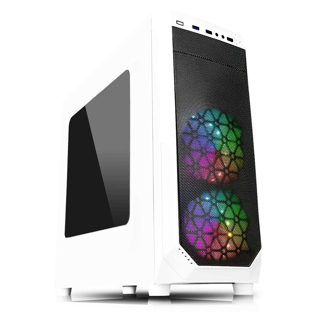 CiT Prism White RGB PC Gaming Case