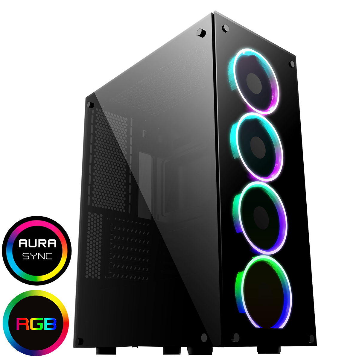GameMax Predator RGB Full Tempered Glass Gaming Case