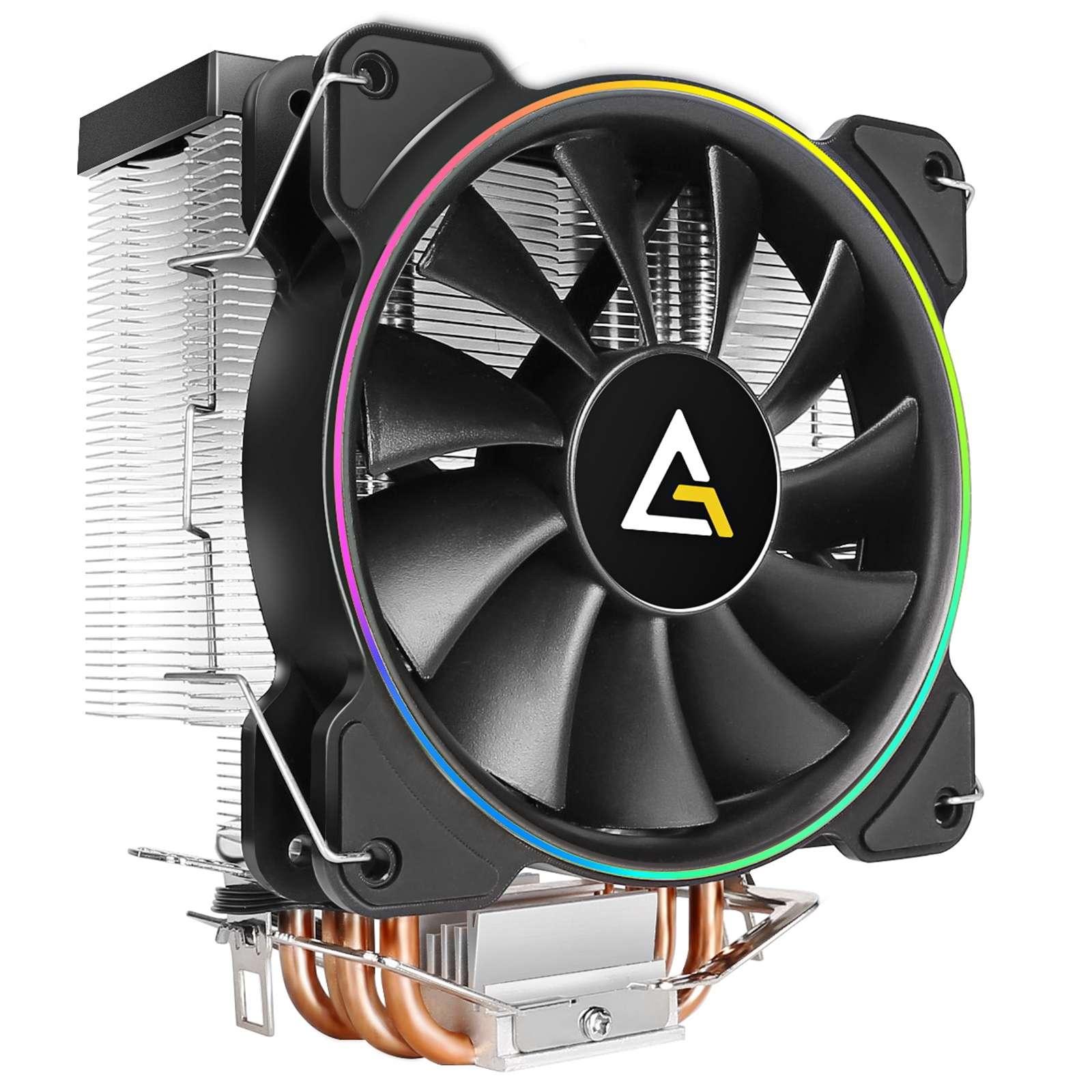 Antec A400 RGB Heatsink & Fan, Intel & AMD Sockets, Silent RGB PWM Fan, Direct-Touch Heat Pipes