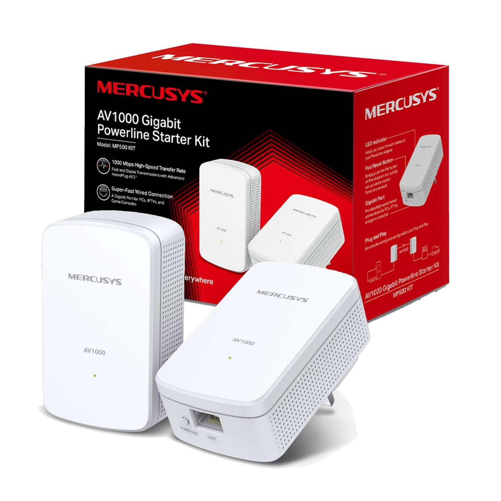 Mercusys MP500 KIT AV1000 Gigabit Powerline Starter Kit