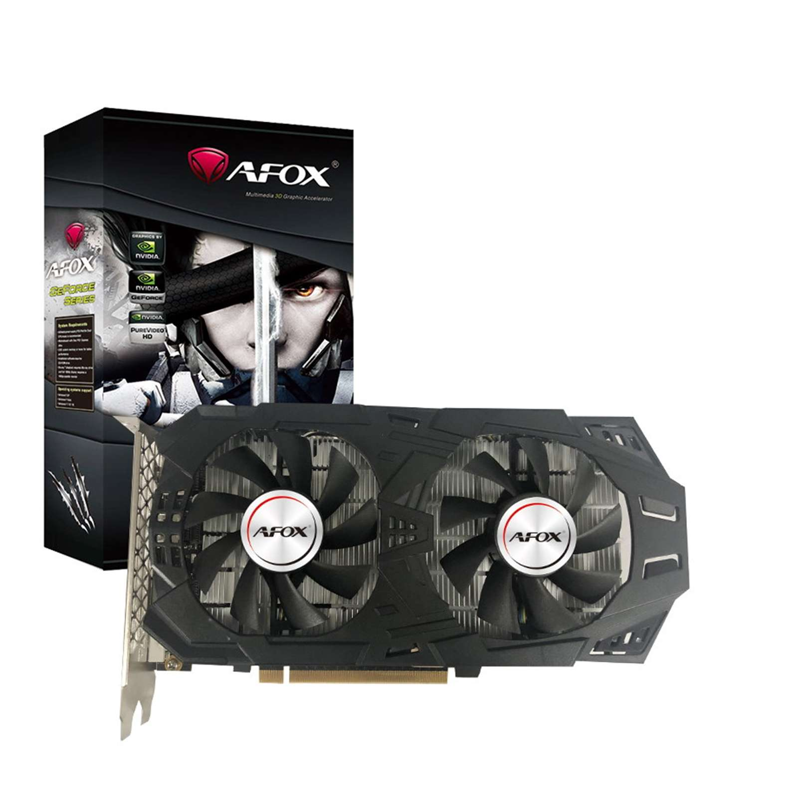 AFOX Nvidia GeForce GTX1060 3GB GDDR5 Dual Fan Graphics Card