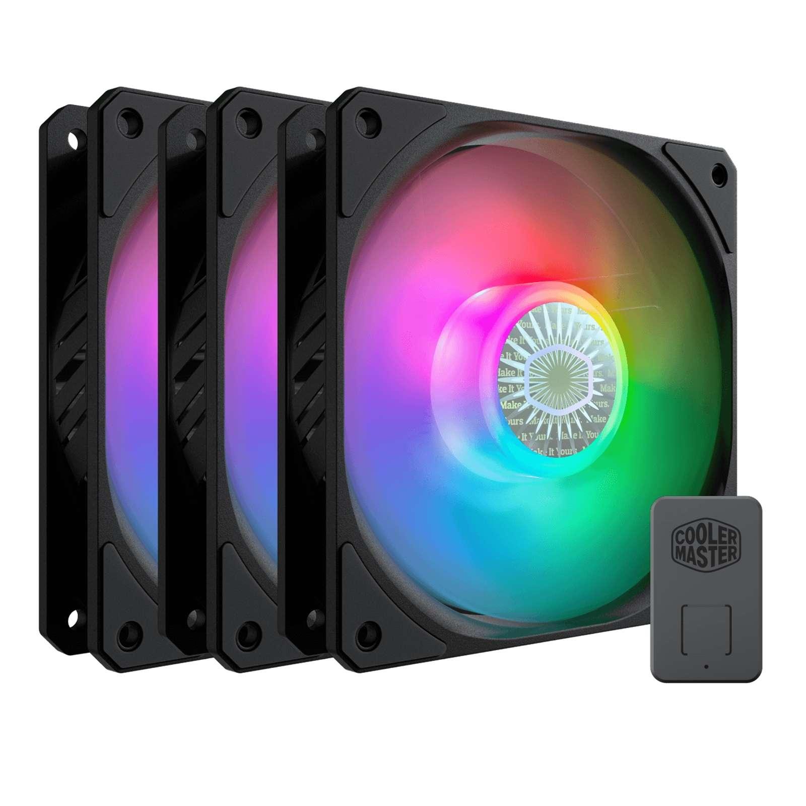 Cooler Master SickleFlow 120 ARGB Addressable RGB 3 Fan Pack with ARGB Controller