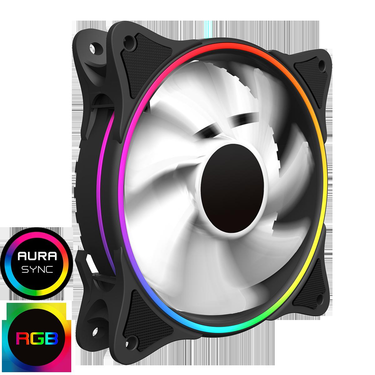 Mirage White Fins Rainbow RGB 5V Addressable 3pin Header & 3pin M/B