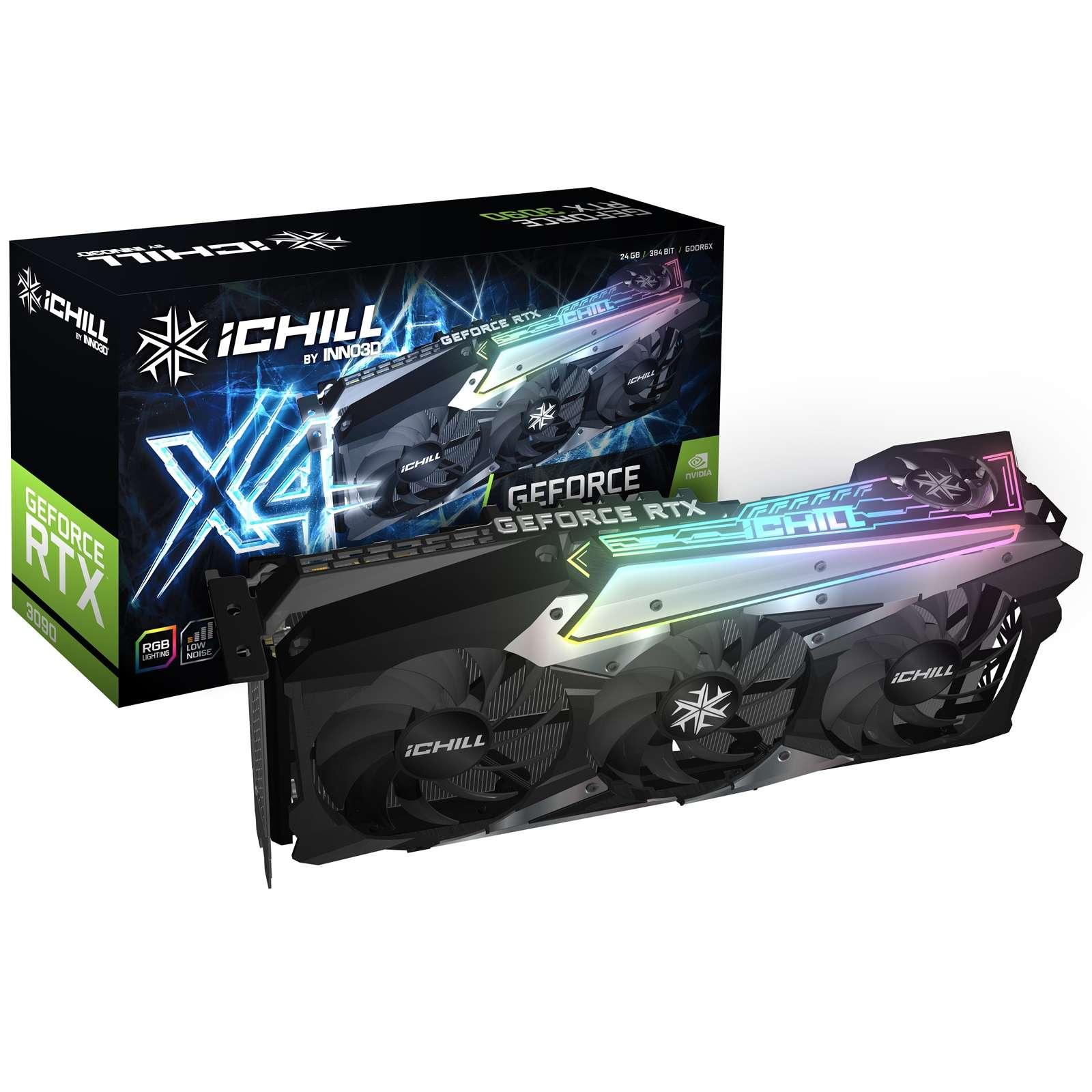 Inno3D Nvidia GeForce RTX 3090 ICHILL X4 24GB RGB Quad Fan Graphics Card