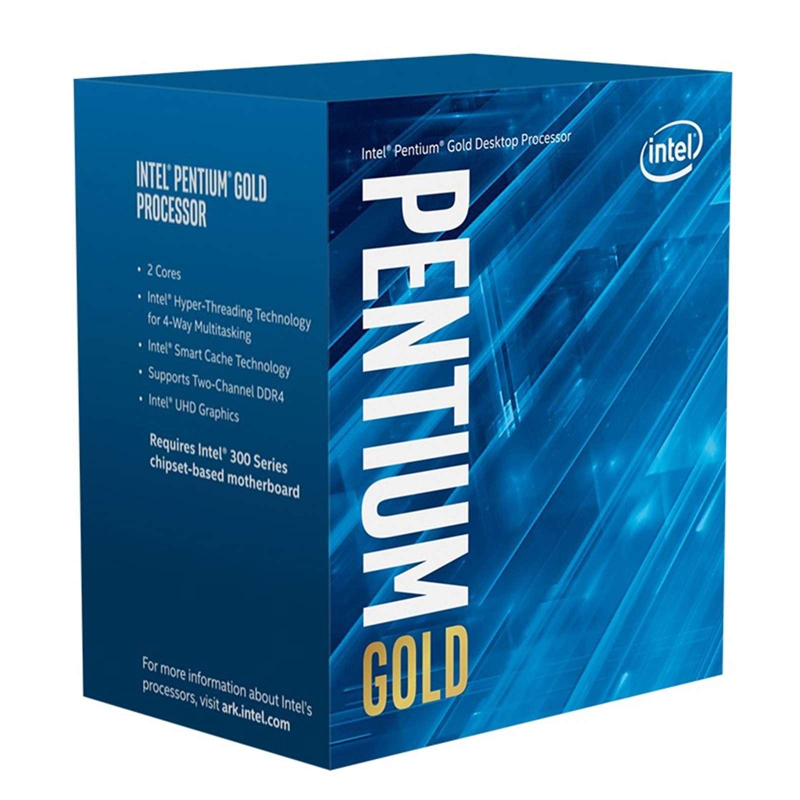 Intel Pentium Gold G6400 Dual Core 4.0GHz 1200 Comet Lake Socket Processor With Heat Sink Fan