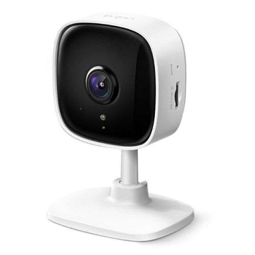 TP-LINK (TAPO C100) Home Security Wi-Fi Camera, 1080p, Night Vision, Motion Detection, Alarms, 2-way Audio, SD Card Slot